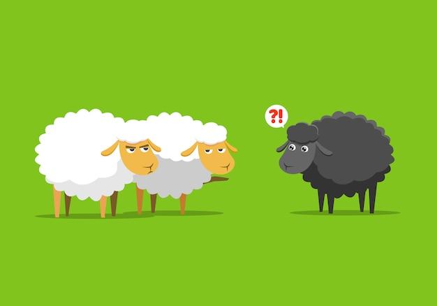 Ovelha branca culpa a ovelha negra