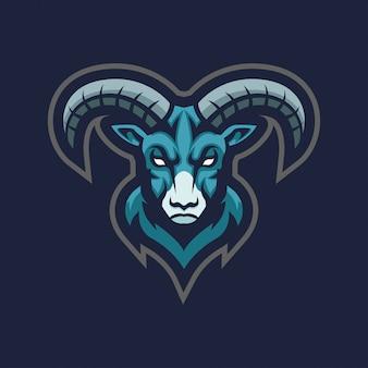 Ovelha cabra ram mascote esport logotipo