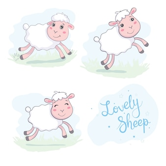 Ovelhas em estilo simples.