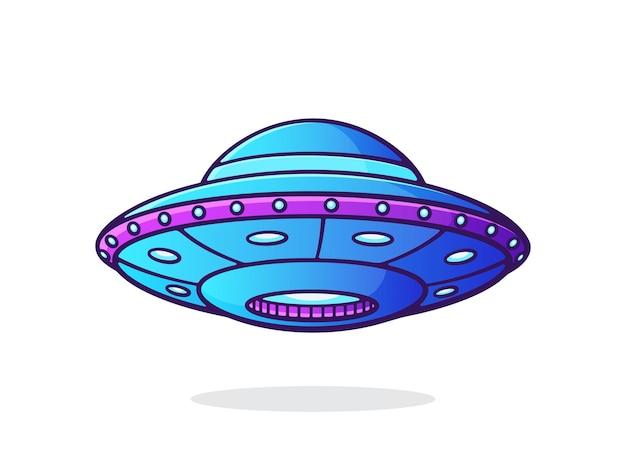 Ovni com luzes nave espacial alienígena objeto voador não identificado futurista símbolo do dia mundial de ovni