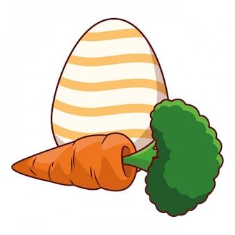 Ovo de páscoa colorido com cenoura
