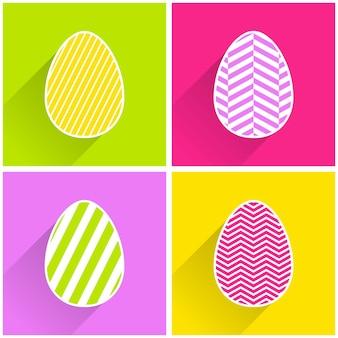 Ovo de páscoa liso com ilustração de padrão geométrico para plano de fundo de férias. cartão de estilo criativo e fashion
