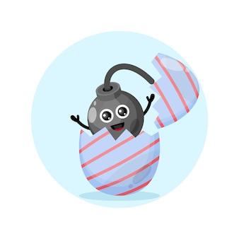 Ovo de páscoa, mascote do personagem fofo