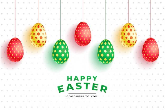 Ovos 3d padrão colorido para o dia de páscoa