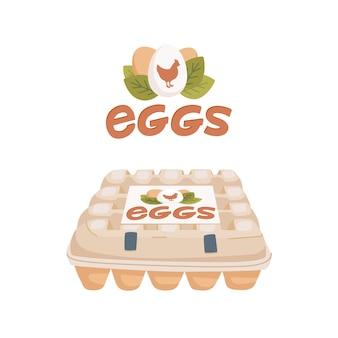 Ovos de galinha na embalagem