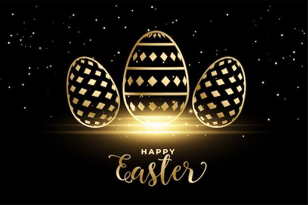 Ovos de ouro padrão para feliz festival de páscoa