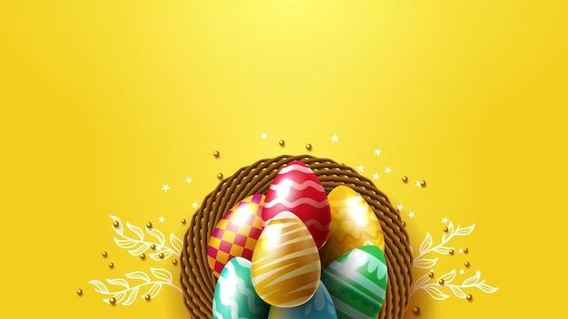 Ovos de páscoa amarelos