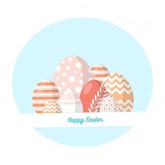 Ovos de páscoa com desenhos diferentes
