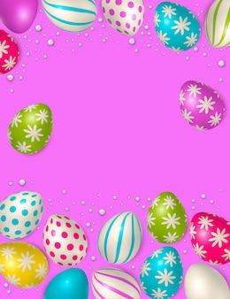 Ovos de páscoa fazendo um quadro