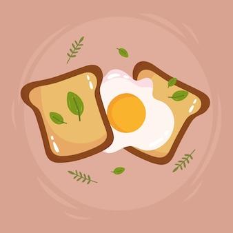 Ovos e pão saudáveis