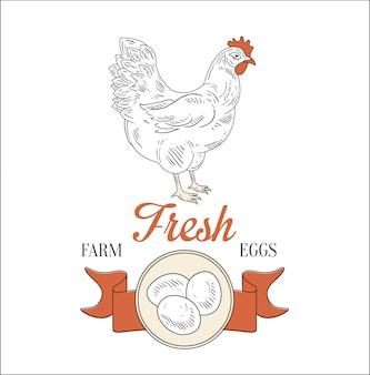 Ovos frescos da fazenda.