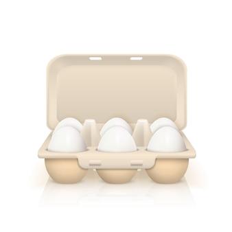 Ovos na ilustração de caixa