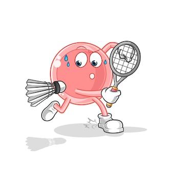 Ovum jogando ilustração de badminton