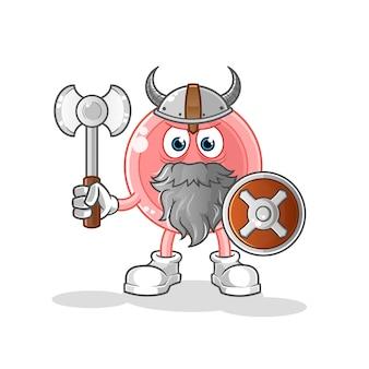Ovum viking com uma ilustração de machado