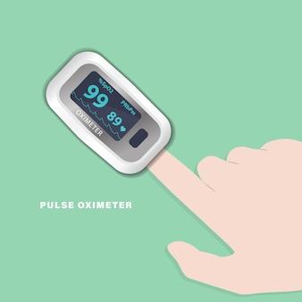 Oxímetro de pulso cuidados de saúde para teste de saturação de sangue dedo medindo oxigênio no sangue