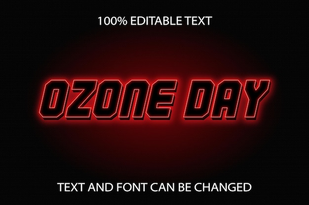Ozone day editable text effect neon style