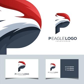P águia falcão marca esporte phoenix Vetor Premium
