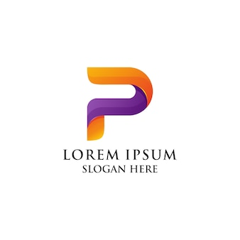 P logo colorfull
