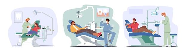 Paciente de clínica odontológica com médico