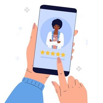 Paciente deixa uma boa avaliação para o médico