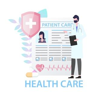 Paciente do sexo feminino de cuidados de saúde