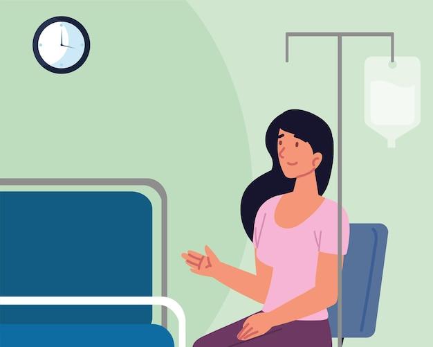 Paciente do sexo feminino em consulta