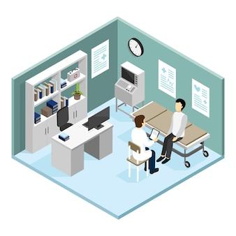 Paciente no escritório dos doutores