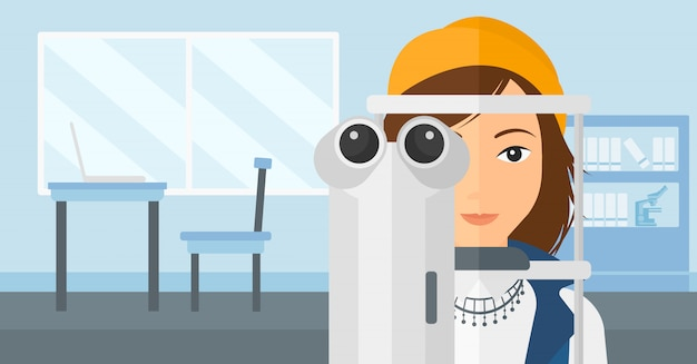 Paciente visitante oftalmologista.