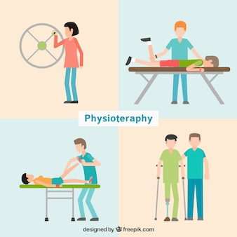 Pacientes na clínica physioteraphy