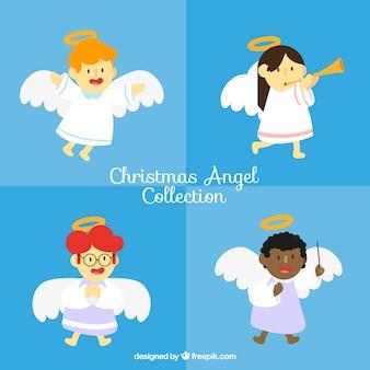 Pack de quatro anjos de natal
