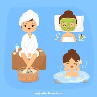 Pack de tratamentos de spa