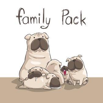 Pack família cães