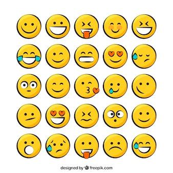 Pacote amarela do smiley