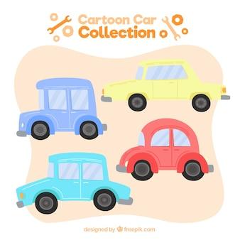 Pacote bonito de carros adoráveis