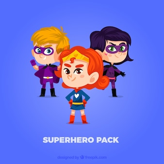Pacote bonito do super-herói
