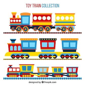Pacote, brinquedo, trens