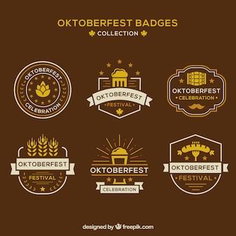 Pacote clássico de badges mais oktoberfest