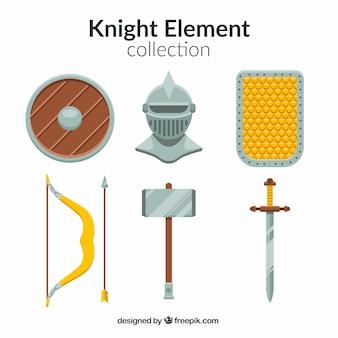 Pacote clássico de elementos do guerreiro