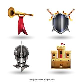 Pacote clássico de elementos medievais