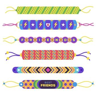 Pacote colorido de banda de amizade