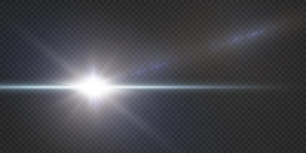 Pacote com destaques horizontais azuis. feixes de néon laser, feixes horizontais de luz azul. estrelas de néon
