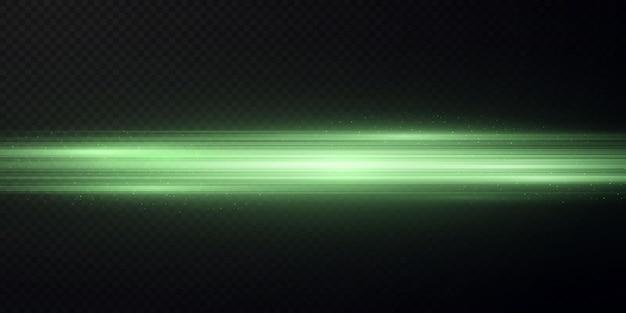 Pacote com destaques horizontais verdes feixes verdes de laser feixes verdes claros horizontais