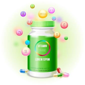 Pacote complexo vitamínico realista