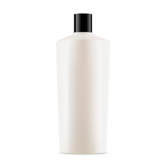 Pacote cosmético garrafa branca