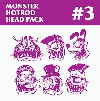 Pacote da cabeça do monstro hotrod