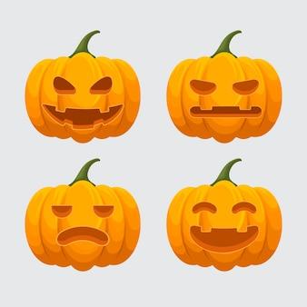 Pacote de abóbora festival de halloween