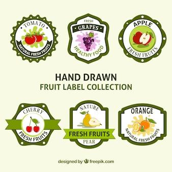 Pacote de adesivos de frutas vintage