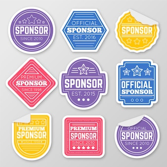 Pacote de adesivos de patrocinador