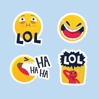 Pacote de adesivos engraçados lol