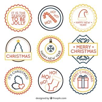 Pacote de adesivos minimalistas natal